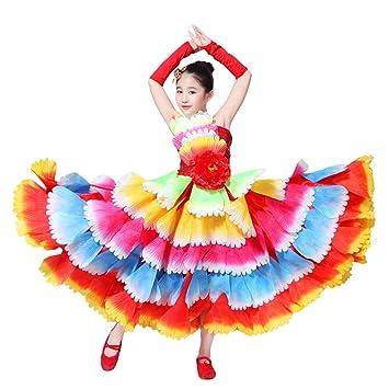 LOLANTA Disfraz de Flamenco para niños Vestido de Baile de ...