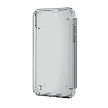 4415c4b2bf エレコム iPhone X ケース カバー ハイブリッド 衝撃吸収 透明 フラップ付き 手帳型 【端子・
