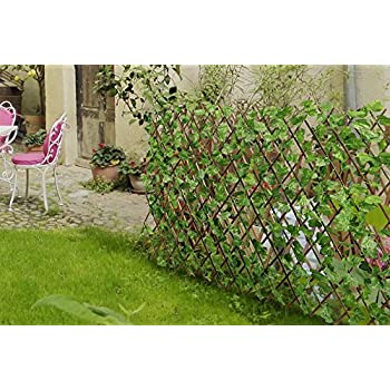 amazon com yaheetech expandable trellises fence artificial faux
