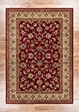 Noble Sarouk Red Persian Floral Oriental Formal Traditional Area Rug 7x10 ( 6'7' x 9'6' ) Easy to...