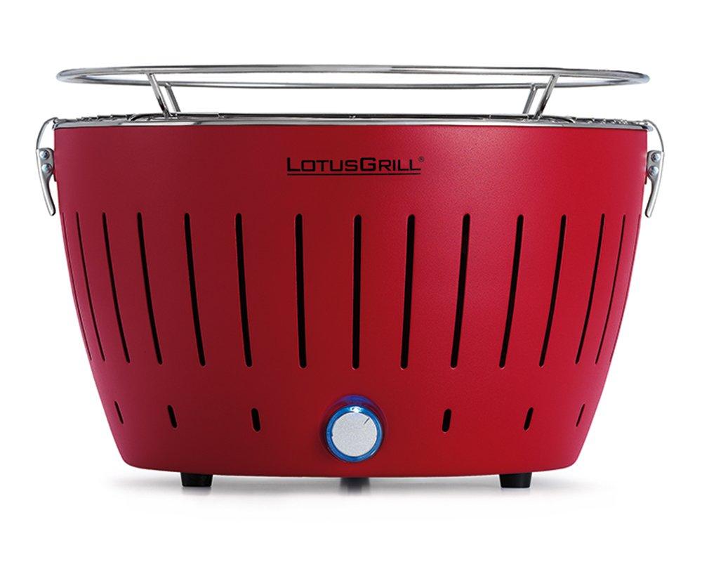 LotusGrill G RO Barbacoa de carbón sin humo color rojo