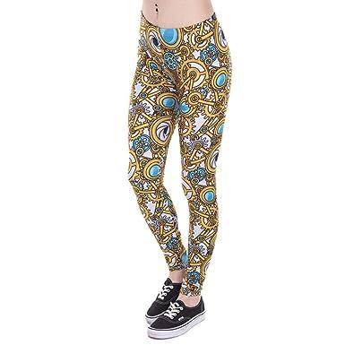 Pantalones De Yoga Marca Moda Mujer Legging Steam Ropa Punk ...