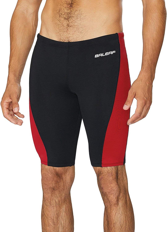 BALEAF Men's Athletic Durable Training Polyester Jammer Swimsuit : Clothing
