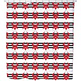 Uneekee Devil Shower Curtain: Large Waterproof Luxurious Bathroom Design Woven Fabric