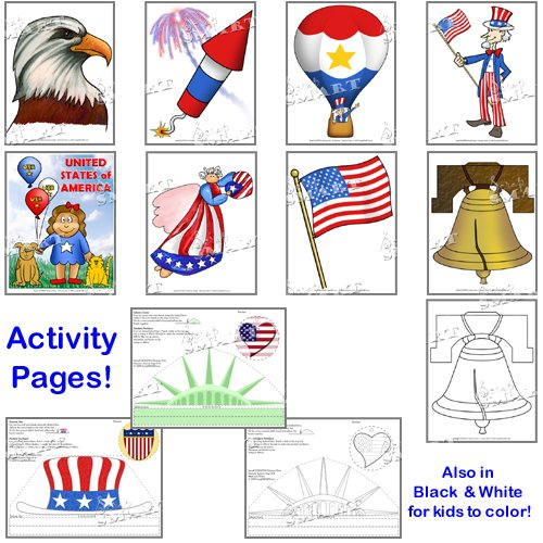 Scrapsmart - Patriotic Party Software Kit - Jpeg, Pdf, and Microsoft Word Files (CDPATPA170) by STORE SMART (Image #4)