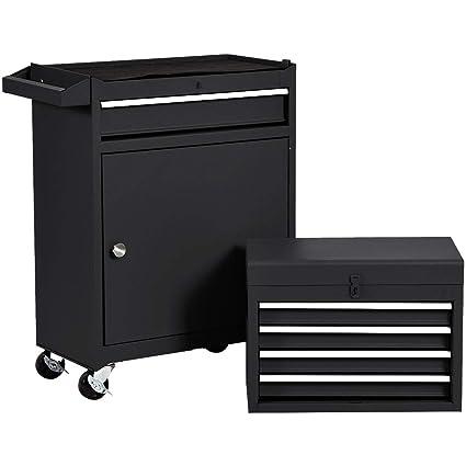 Amazon.com: Caja de herramientas con ruedas, armario de ...