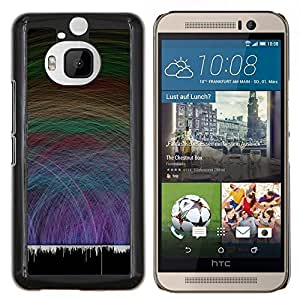 LECELL--Funda protectora / Cubierta / Piel For HTC One M9Plus M9+ M9 Plus -- Waves Music Sound Vibe Partido Danza del amor --