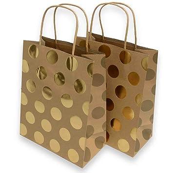 Amazon.com: Kraft bolsas de regalo medianas, Foil hot-stamp ...