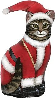 product image for Fiddler's Elbow Santa Claus Cat Door Stop, Door Stopper, Interior