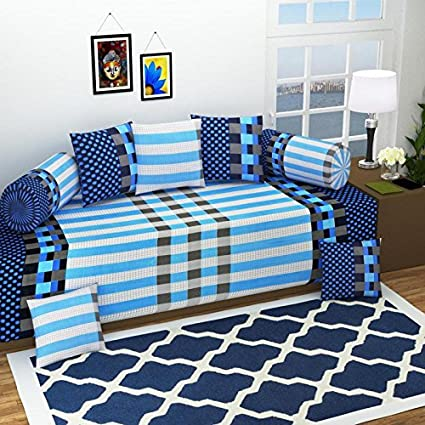 Good Price8 Piece 144 TC Cotton Diwan Set-Multi