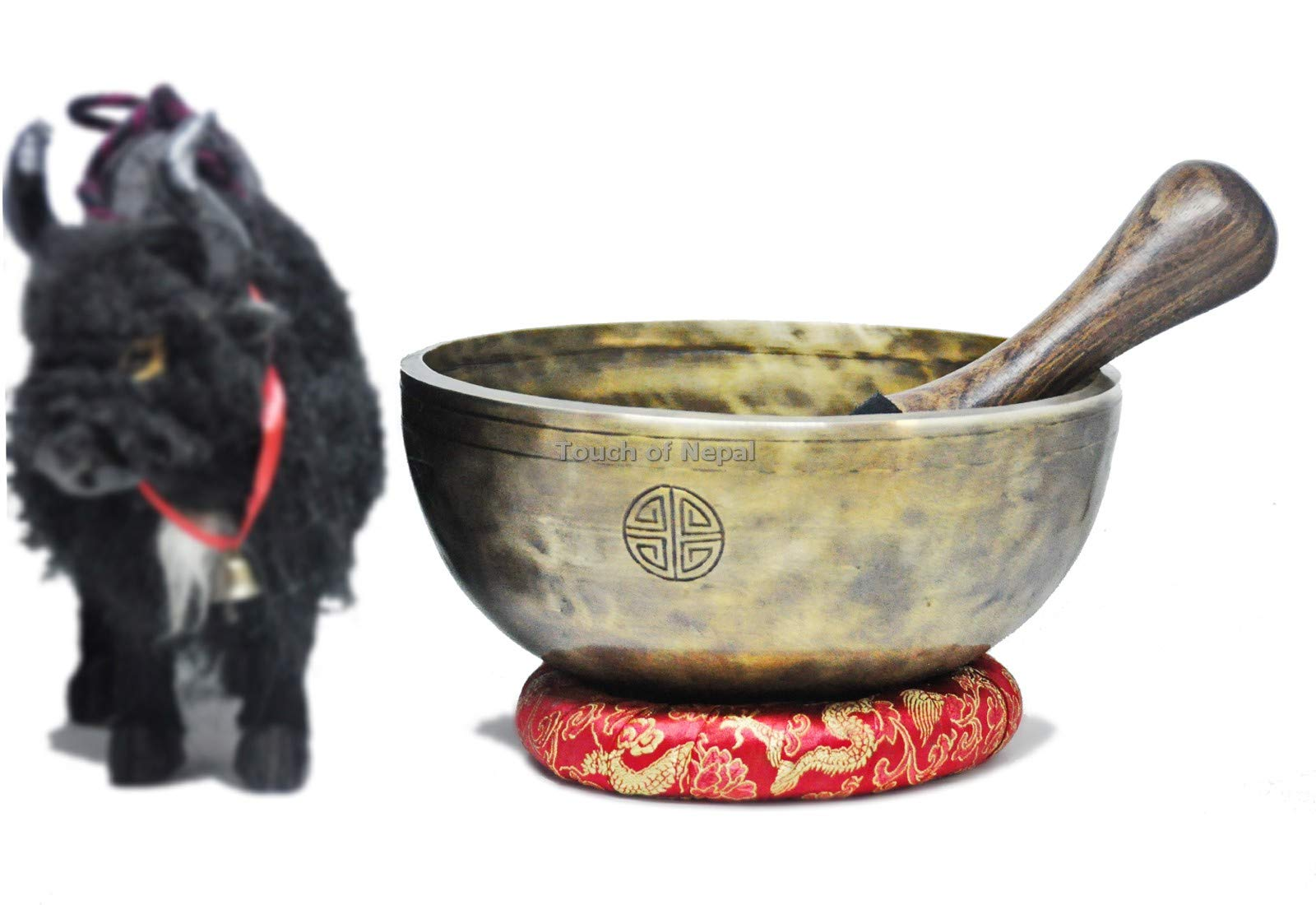 Full moon singing bowl-8 inches Diameter Tibetan singing bowl from Nepal by Touch of Nepal