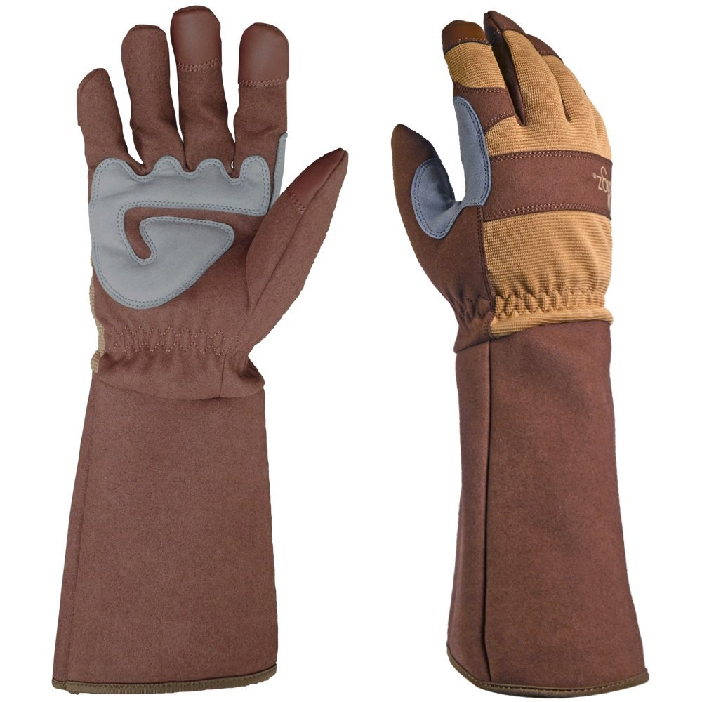 DIGZ Rose Pruning Thorn-Proof Gardening Gloves with Forearm Protection for Men and Women. Puncture Resistant Gardening Glove