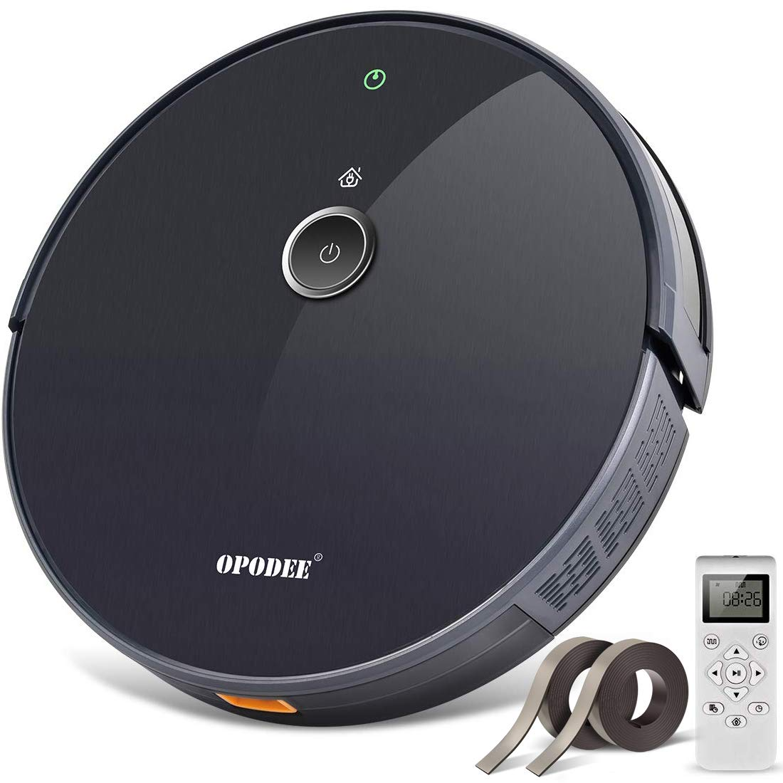 OPODEE Robotic Vacuum Cleaner, with 1800Pa Ultra Strong Suction, Pet Hair Cleaning, Smart Navigation, 360° Sensor Protection, Self-Charging, Super Quiet, Ideal for Hard Floor, Mid-Pile Soft Carpets by OPODEE