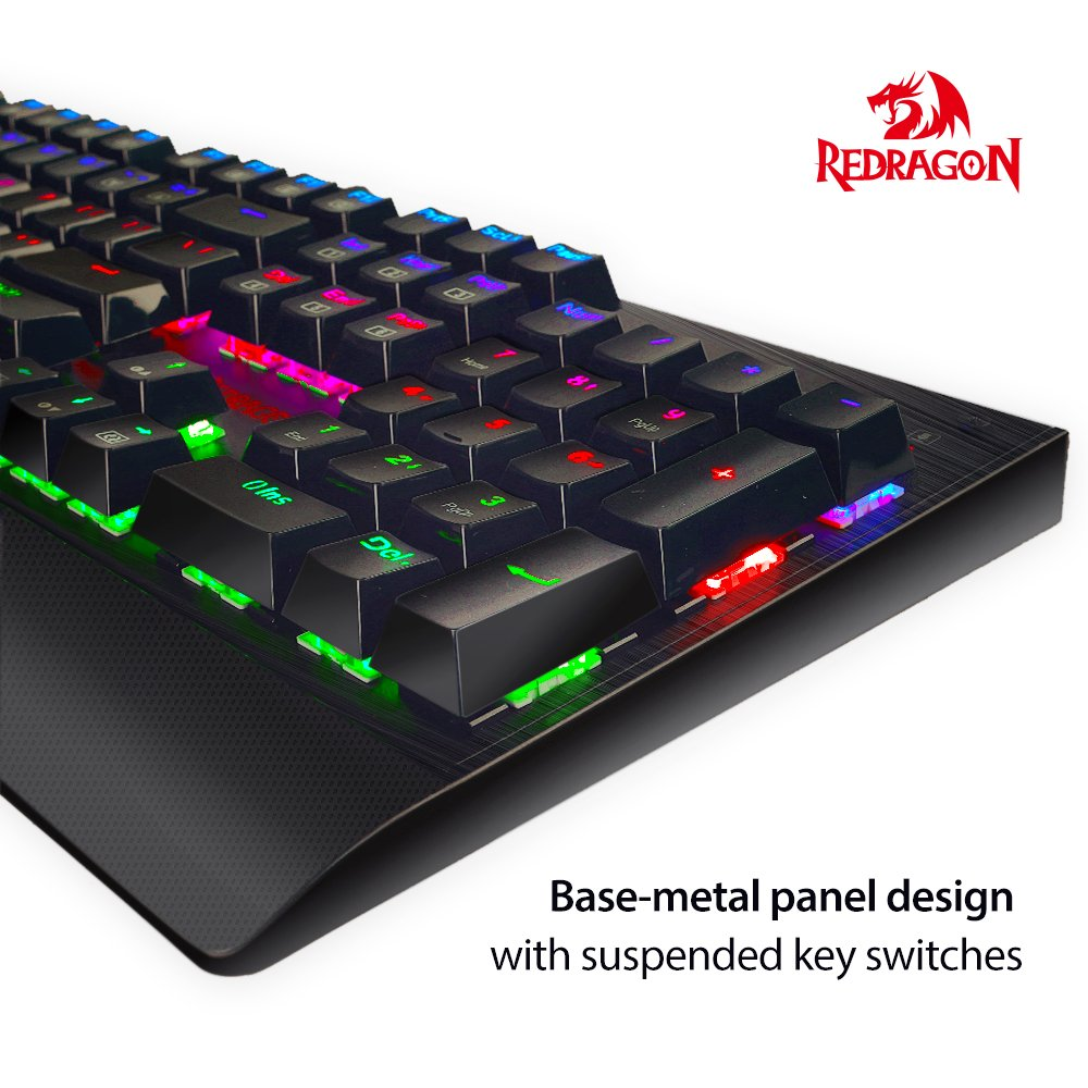 Redragon K557 KAlA RGB Backlit Waterproof Mechanical Gaming Keyboard with Blue Switches, Anti-ghosting 104 Keys by Redragon (Image #1)