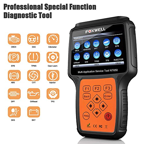 Foxwell NT 650 is a simple and straightforward OBD2 scanner.