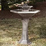 Outdoor Smart Solar Alfresco 2-Tier Solar Bird Bath Fountain Garden