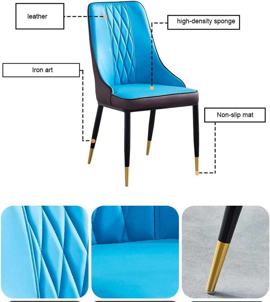 WDX- Dining Chair, einfacher Schreibtischstuhl, kreative Rückenlehne, Freizeit Stuhl, Haupt Adult Dining Chair Gemütlich (Color : Gray-A) Blue-b