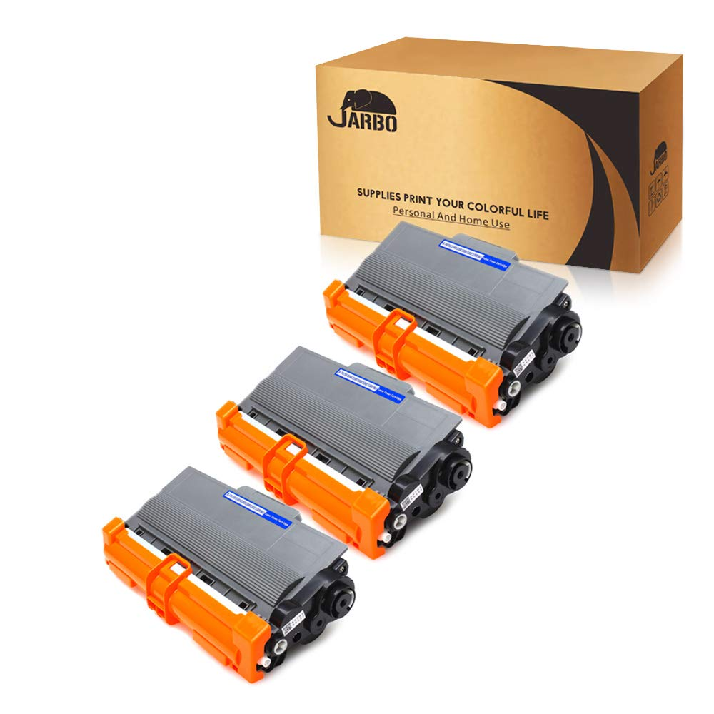JARBO Compatible for Brother TN750 TN-750 TN720 TN-720 Toner Cartridges High Yield, 3 Black, Use with Brother 5470DW 8710DW 5450DN 8910DW 6180DW 5470DWT 8510DN 6180DWT 8155DN 8150DN 8110DW Printer