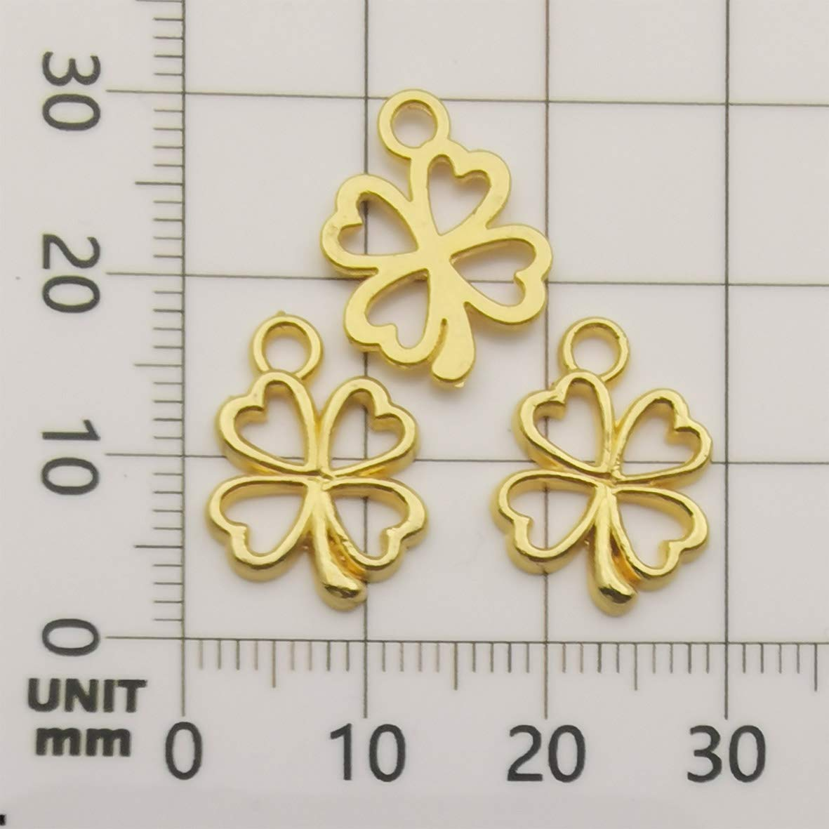 Antique Bronze Tone Jewelry Making Charms Lucky Connector Square Crafting Craft