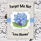 """Forget Me Not Seed Favors """"Love Blooms"""" (25 Individual Packets) FMN101"""