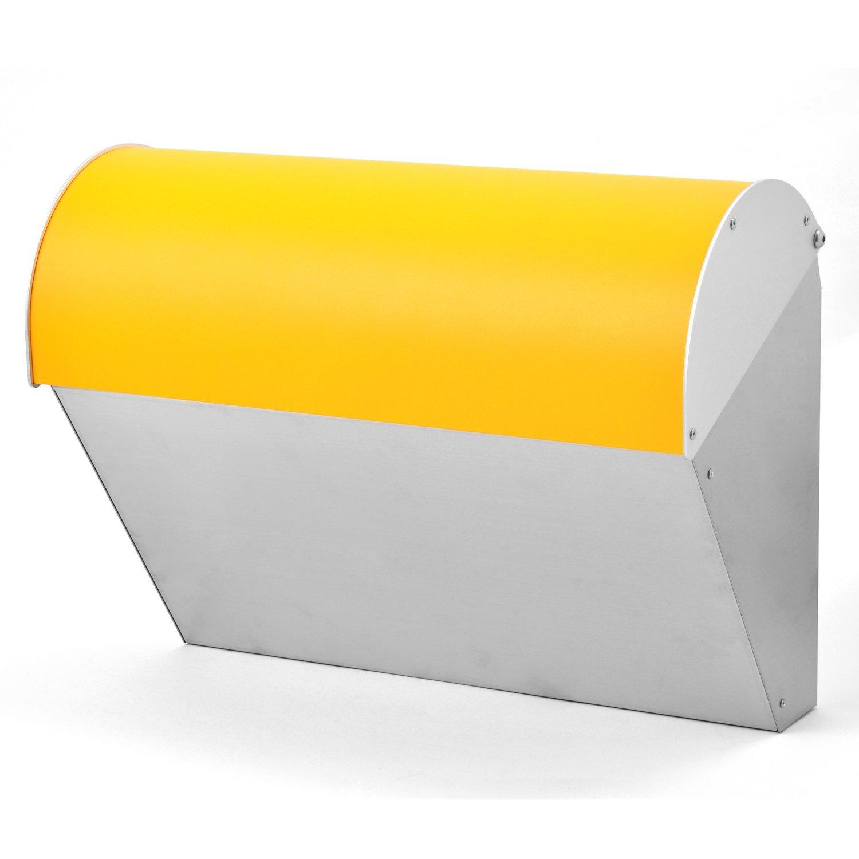 LEON (レオン) ビバリー 人気 郵便ポスト 壁掛けタイプ ステンレス製 おしゃれ 大型 北欧 かわいい メール便対応 防水 ポスト 郵便受け イエロー B076W7TWBF 19980 イエロー イエロー