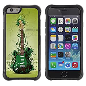 BullDog Case@ Green Guitar Rugged Hybrid Armor Slim Protection Case Cover Shell For iphone 6 6S CASE Cover ,iphone 6 4.7 case,iphone 6 cover ,Cases for iphone 6S 4.7