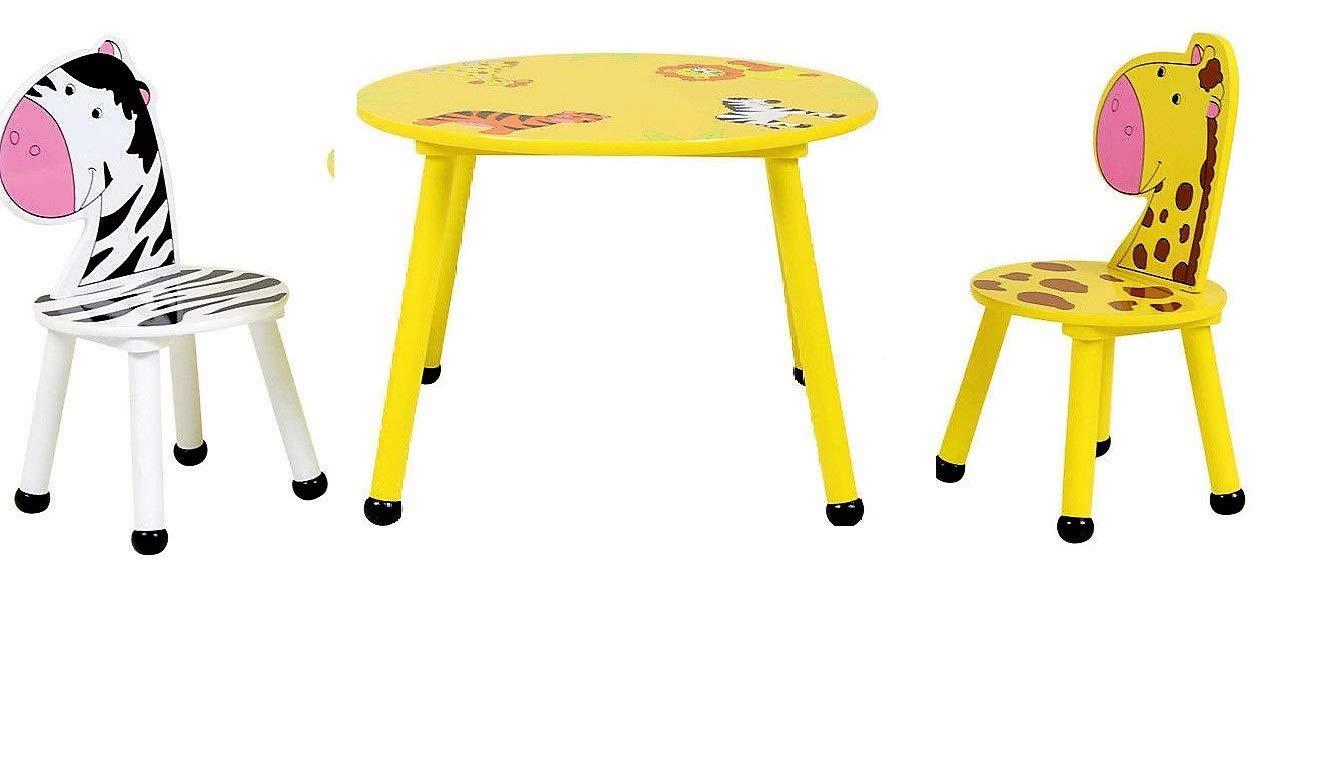 HOME HUT Conjunto de Mesa y sillas de Madera para niños, diseño de ...