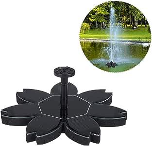 A-ZITCH Fuente de energía Solar Exterior Panel Flotante Fuente Bomba Agua Estanque riego Cascada jardín decoración: Amazon.es: Deportes y aire libre