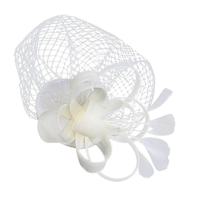 Braut Edele Mini Hut Fascinator Hut Haarschmuck Kopfschmuck Haarspange