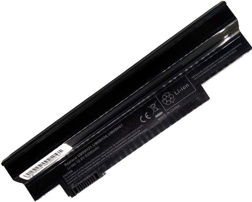7XINbox 6 Cells 5200mAh Replacement Laptop Battery for Acer Aspire One 253h NAV50 Series One 532 532h AO532h 532G AO532G UM09C31 UM09G31 UM09H31 UM09H36 UM09H41 UM09G41 UM09H71 UM09G51