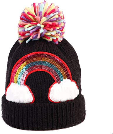 kids Hats Amazon.com: Kids Winter Knit Hat, Warm Fleece Lined Hats Girls Pom Pom  Beanie Hat Sequin Rainbow Kids Hat: Clothing