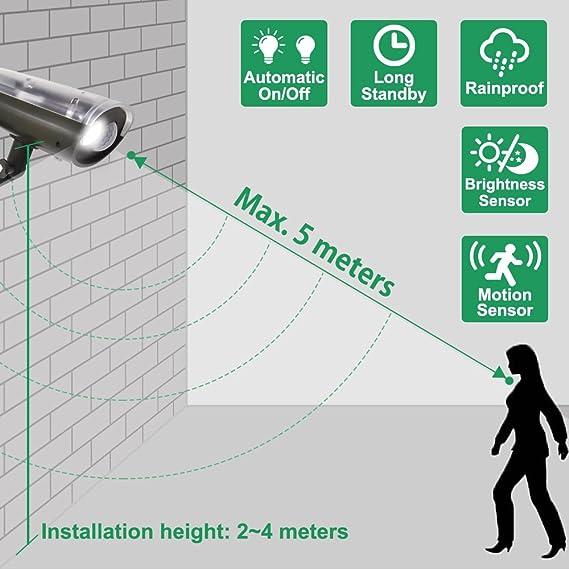 Lampara Foco Aplique Solar de LED 3W con Sensor de Movimiento para Jardin Garaje Exterior Trabajar en Oscuridad Brillo Alto 250Lm Luz Fria 6000K Lot de 1 de ...