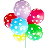 100 pz 12 pollici misto colore palloncini in lattice Round Dot stampato spessore grande rotondo decorazione per matrimonio compleanno festa casuale Color