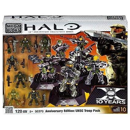 Halo Mega Bloks Set #96970 Anniversary Edition UNSC Troop Pack by Mega  Brands