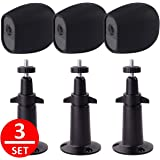 EEEKit Adjustable Outdoor Indoor Mental Wall/Ceiling Mount+ Protective Silicone Skins Cover Case for Arlo Pro/Arlo Pro 2 Home Camera (3-Set Black)