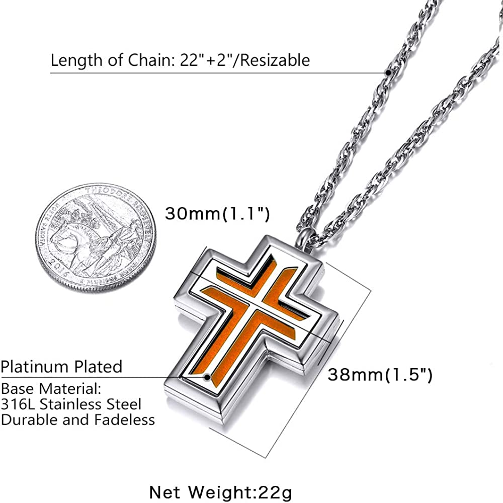 Supcare Aromatherapy Essential Oil Diffuser Necklace Stainless Steel Locket Pendant,Saint Michael//Christopher Custom Engraved Saints Jewelry