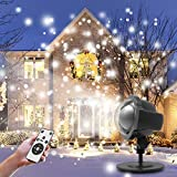 Christmas Projector Light, Mifanstech 360°Rotating Waterproof Outdoor and Indoor Led Laser Light Projector Suitable for Festivals,Valentines,Party,Bar,Garden Decoration (SnowFalling Projector)