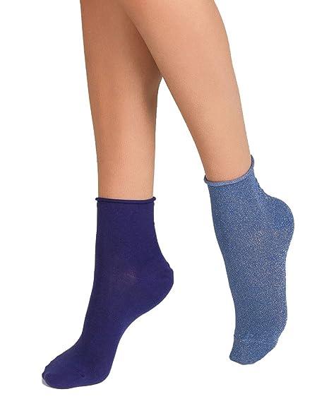 Dim Calcetines de algodón brillantes que no aprietan x2