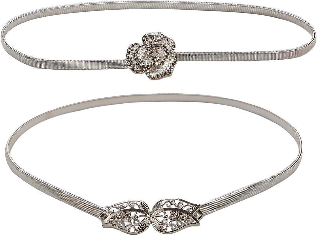 Kilofly 2pc Women Silver...