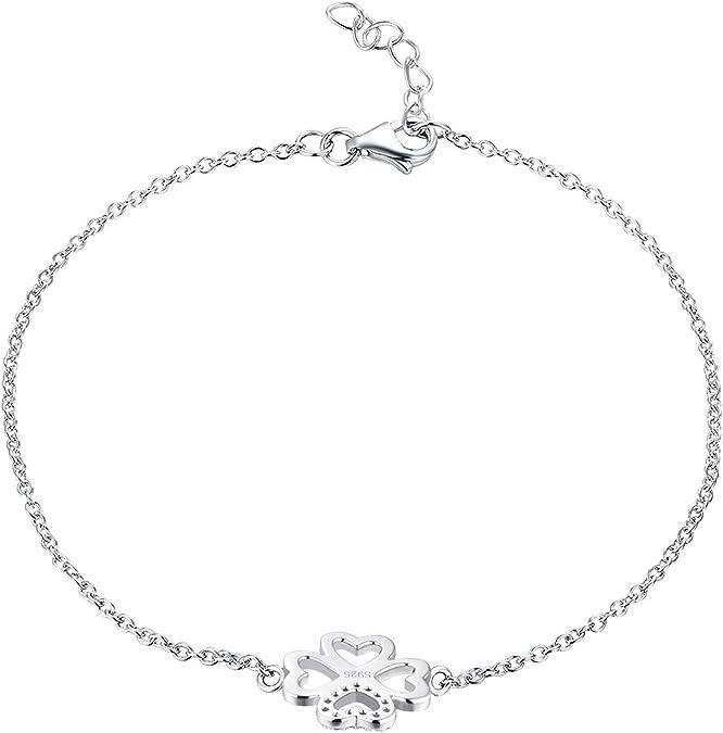 JO WISDOM bracelet tr/èfle argent 925 femme avec AAA Oxyde de Zirconium
