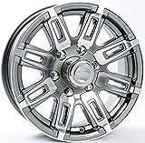 TWO (2) Aluminum Sendel Trailer Rims Wheels 6 Lug 16'' T06 Gunmetal Spoke Style