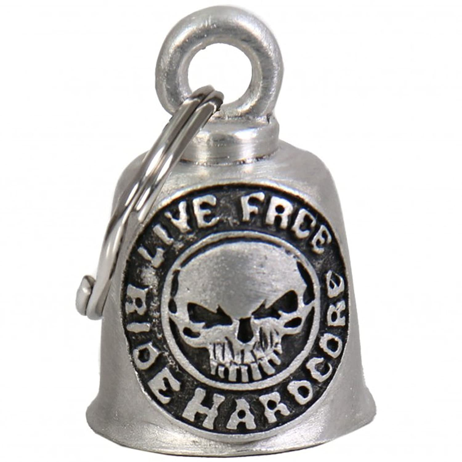 "Gremlin Bell - LIVE FREE RIDE HARDCORE - 1"" x 1.5"" - Made In USA"