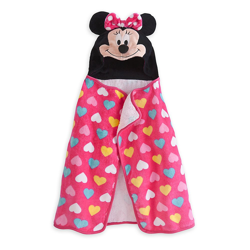 Disney Minnie Mouse Hooded Towel for Baby Pink