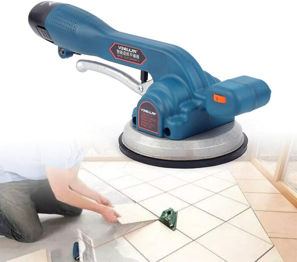 Gdrasuya10 Electric Tile Leveling Vibration Machine Intelligent Frequency Control Hand Held Tiler Screed Ceramic 600W