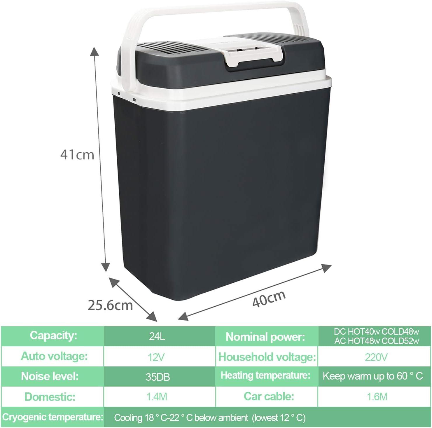 pour la Maison 12V//230V Classe /énerg/étique A++ Chaud//Froid Hengda Glaci/ère /électrique Portable 32 litres la Voiture la Camping