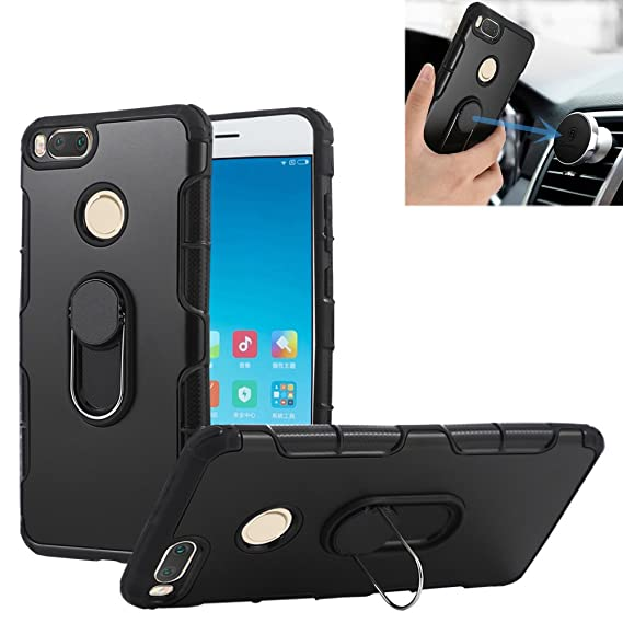 Xiaomi Mi 5X Case, Xiaomi Mi A1 Case, 360 Amor Ring Holder Stand Case [Kickstand & Magnetic Car Mount] Shockproof Slim Cover for Xiaomi Mi 5X, Mi A1 ...