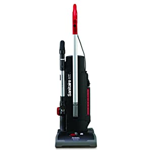 "Sanitaire EUKSC9180B DuraLux Upright Commercial Vacuum with 2 Motor, 50' Cord, 11.5 Amps Power, 36"" Length x 15-1/4"" Width x 8-1/4"" Height, Red"