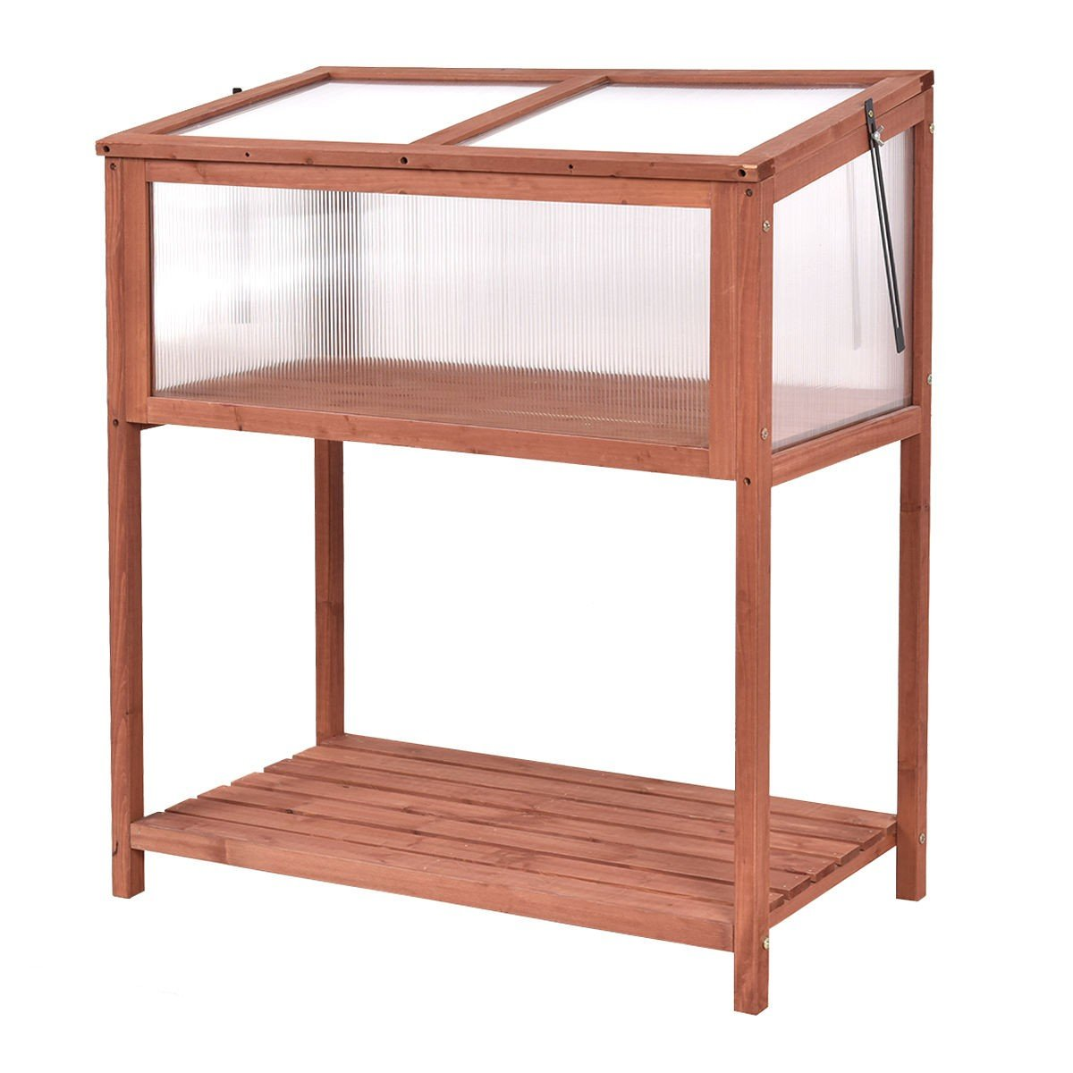 Garden Portable Wooden Cold Frame Greenhouse - By Choice Products