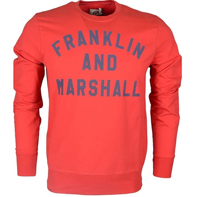 FRANKLIN AND MARSHALL - FLEECE FLEECE ROUND NECK LONG - FLMF272ANS18 - TALLA: M - SUDADERA BÁSICA SIN CAPUCHA PARA HOMBRE COLOR ROJO: Amazon.es: Ropa y ...