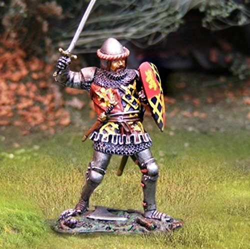The Collector's Showcase Medieval Agincourt Knights English Knight with Sword 1:30 Scale Pewter